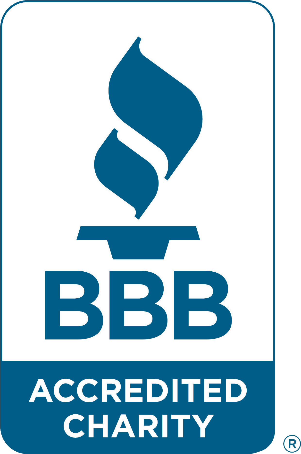 Graphic: Better Business Bureau Accredited Charity Badge