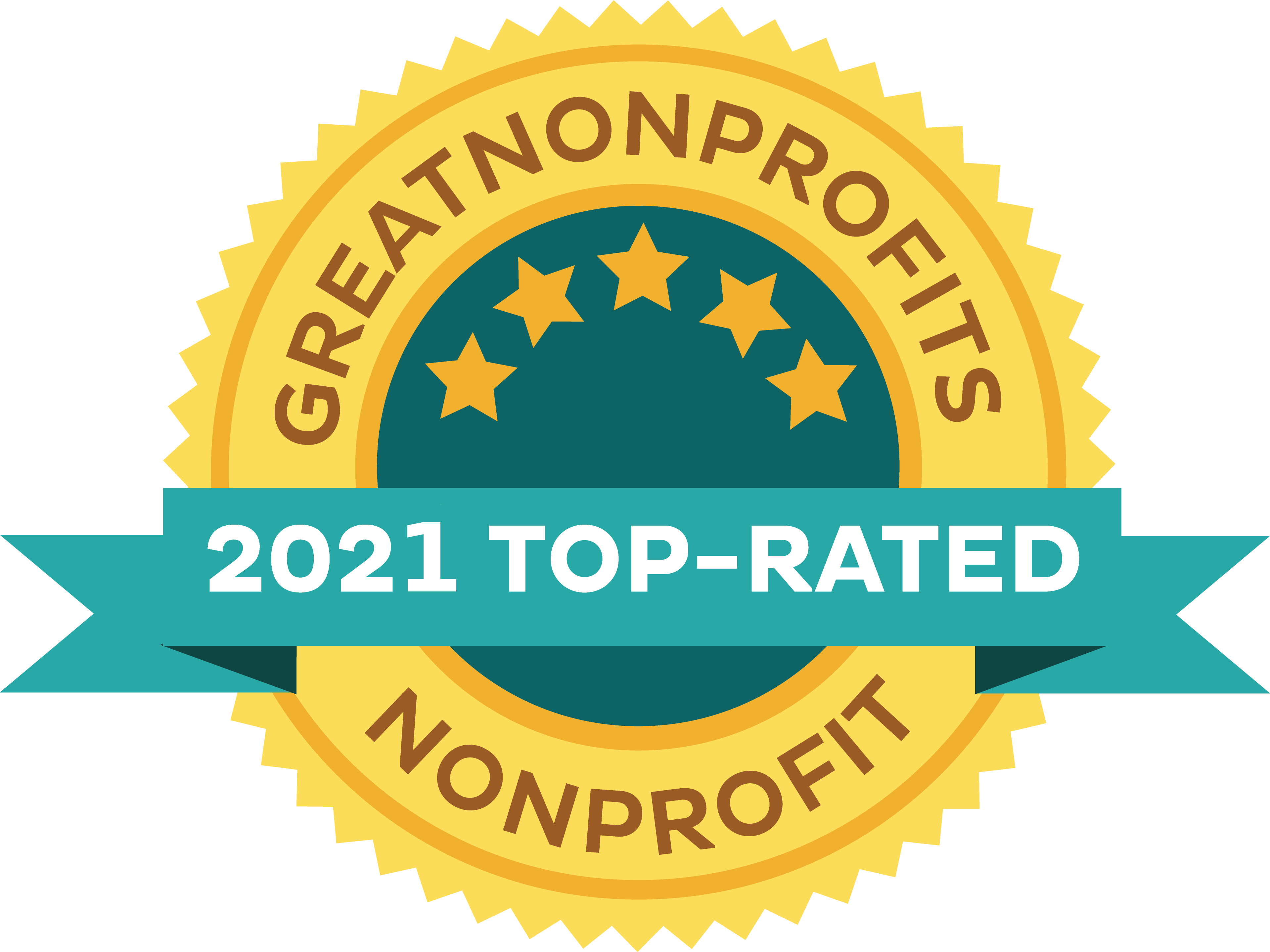 Graphic: Great Nonprofits 2021 Top Rated Nonprofit