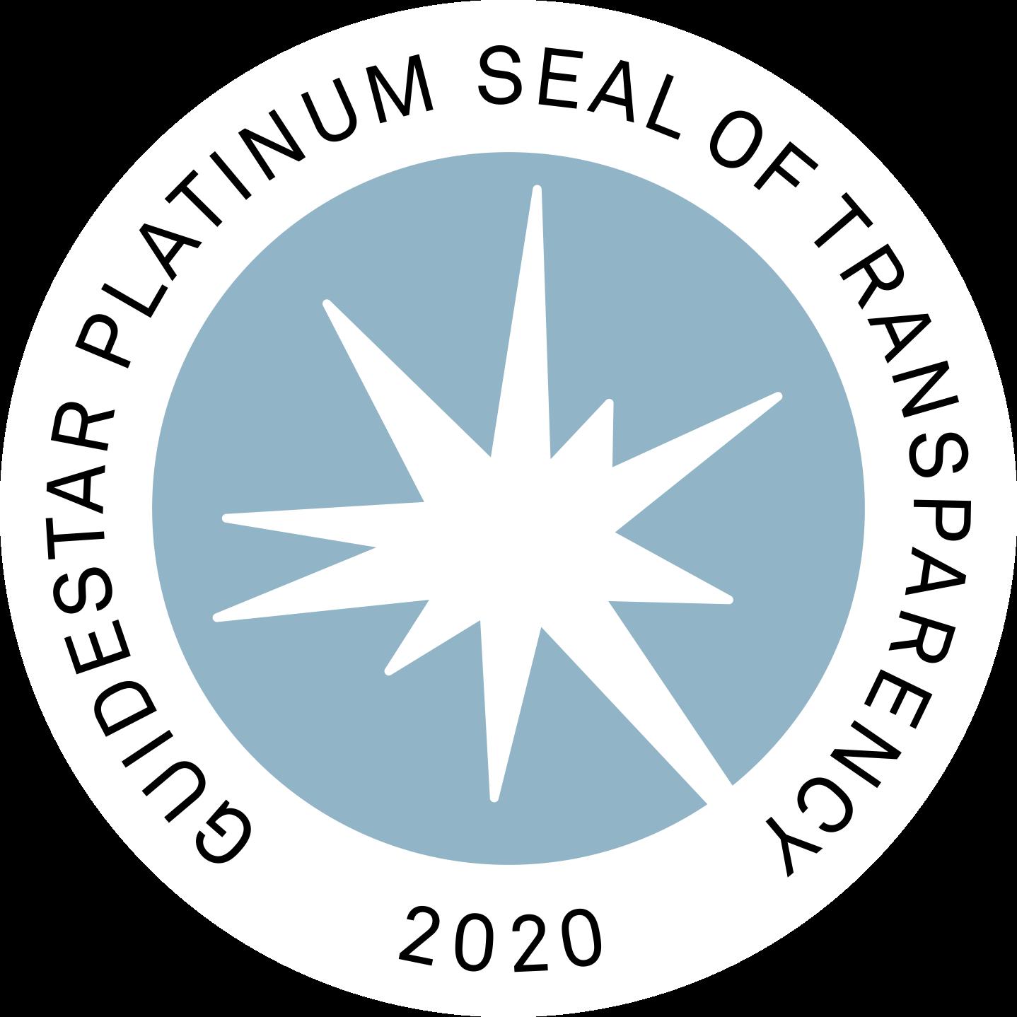 Graphic: GuideStar Platinum Seal of Transparency