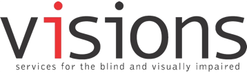 logo: Visions / Services for the blind and visually impaired.