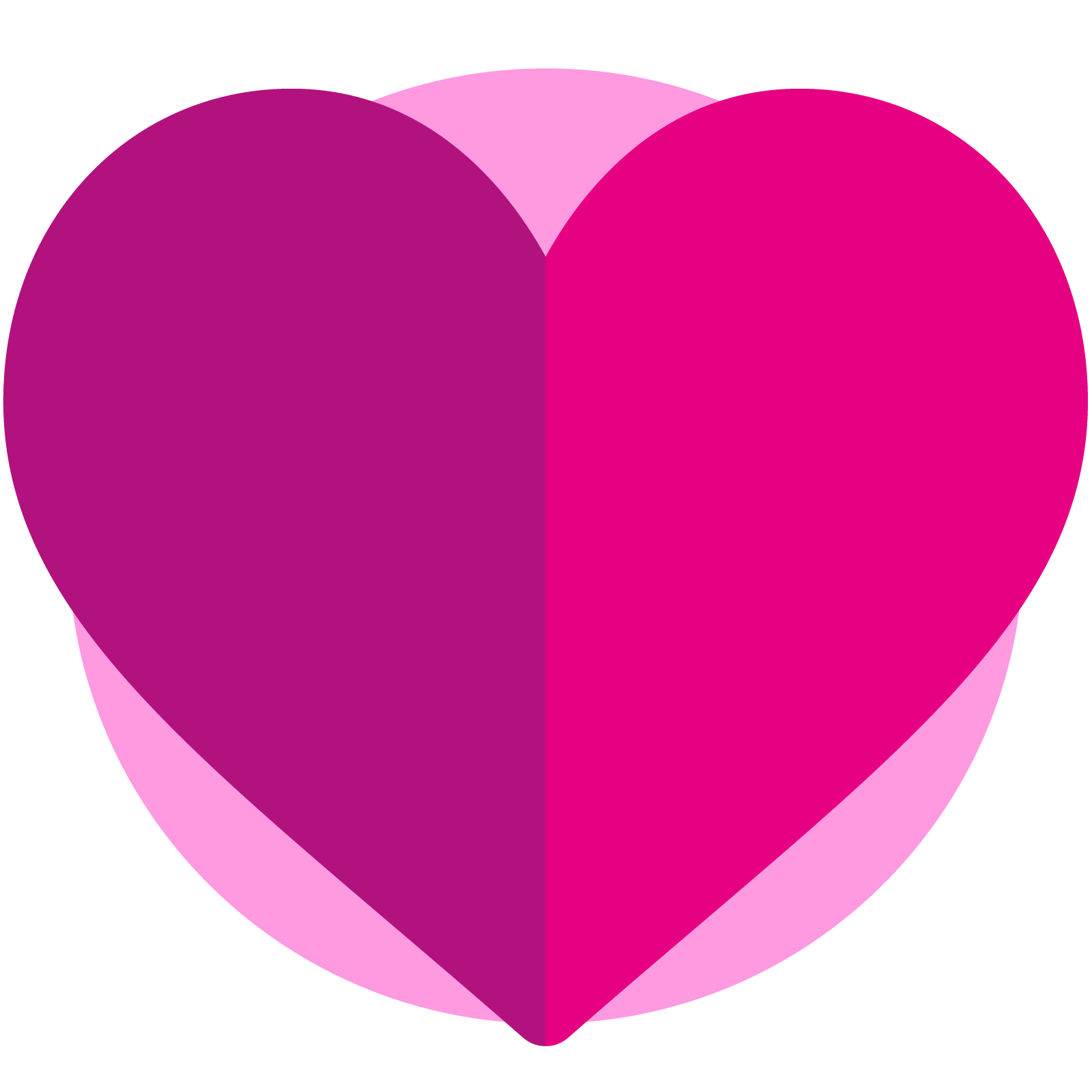 Icon of a folded heart