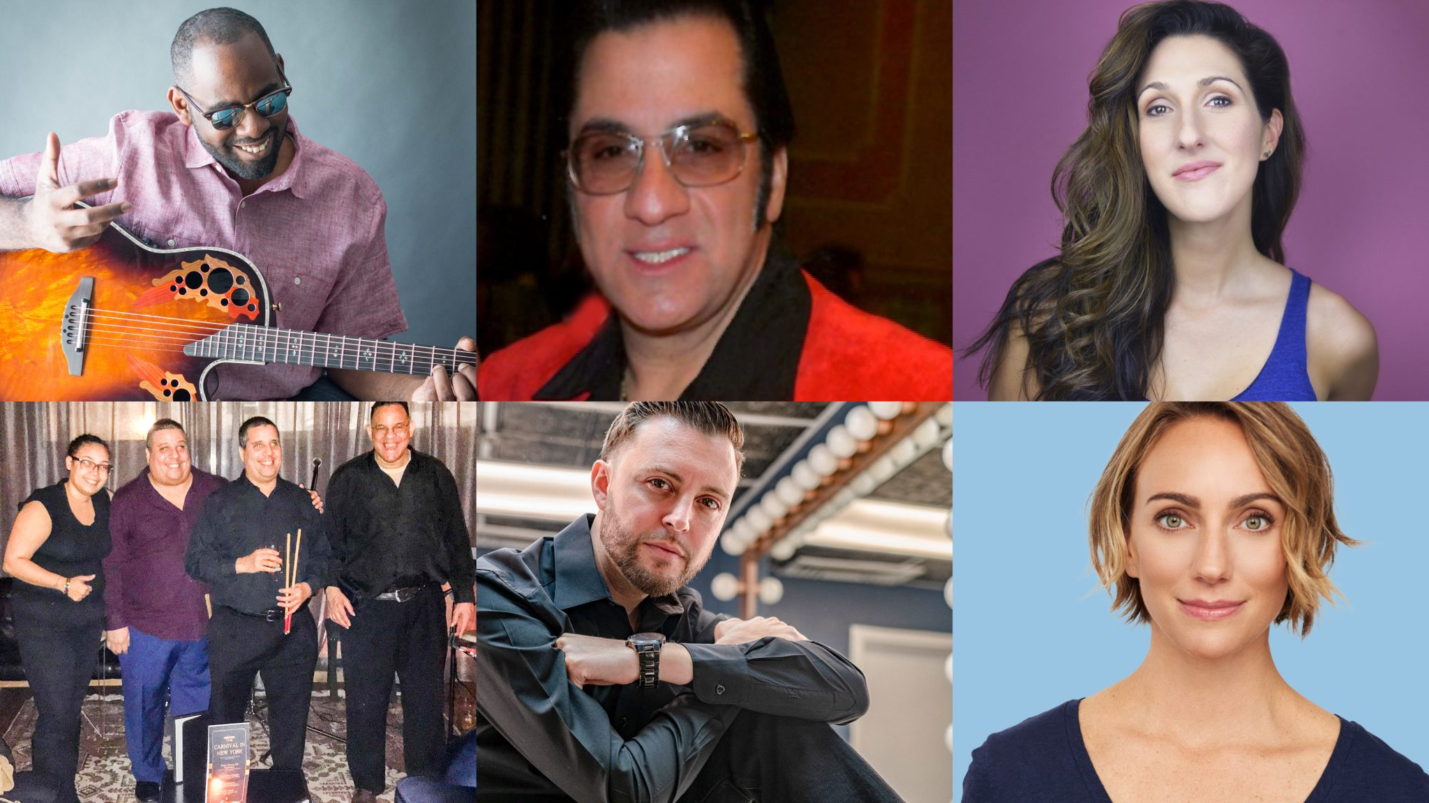 A group of six headshots of each of VISIONS volunteer concert performers.